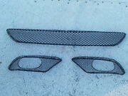 Front Bumper Cover Lower 3-piece Mesh Amg Grill Set For 03-06 Mercedes W215 Used