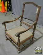 Louis The 15th Style Chair Antique Solid Wood 44 X 30