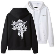 New Italy Pop Style Menand039s Hoodies Pullover Angel Cupid Printing Sweater Am3306c