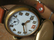 Extra Fine Orig. German Trench Wristwatch Wwi Hfand039 Strong Hunter Case Heer Sn