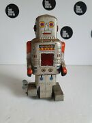 Tin Robot 1950s Sy.toys Of Japan, Working