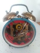 Vintage See-thru Wind Up Clock. Made In West Germany By Sheffield Watch Inc