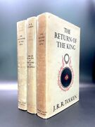 The Lord Of The Rings - First Edition - Early Prints - J.r.r Tolkien 1954 Hobbit