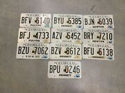Georgia License Plate Lot Of Ten Plates 10 - Expired Vintage