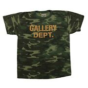 Gallery Dept. Distressed Camouflage Print T-shirt Size L
