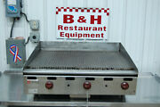 Wolf 36 Manual Agm36-1021 Natural Gas Flat Top Ribbed Grooved Griddle Grill 3and039