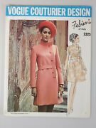 Vintage Vogue Couturier Design Fabiani Italy Sewing Pattern 2325 Size 12 Uncut