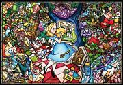 Tenyo Dp-027 Disney Stained Glass Alice In Wonderland Jigsaw Puzzle 1000 Piec