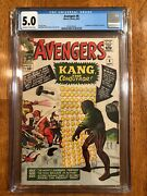 Avengers 8 1964 Cgc 5.0. 1st Kang Ow/w Pages Upcoming Mcu Silver Age Key