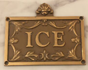 The Plaza Hotel New York City Chunky Brass Hotel Door Ice Room Sign Plaque