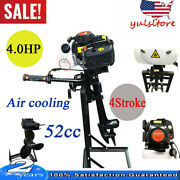 4hp 4 Stroke Outboard Motors Inflatable Boat Engine Cdi Air Cooling Short Shaft