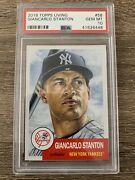 2018 Topps Living 58 Giancarlo Stanton Card Graded Psa 10 Gem Mint Sold Out