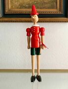 Vintage Beautiful Collectibles Pinocchio Wooden Doll Original 1981 With Tag