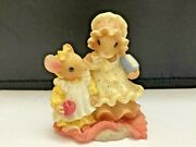 Mouse Tales Priscilla Hillman Following Your Footsteps Figurine Enesco 1998