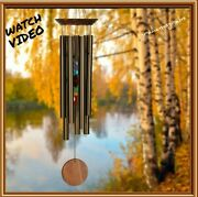 Woodstock Chakra Chimes 7 Stones Large Bronze Wind Chime New With Free Shipping