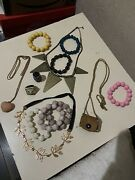 Costume Jewellery Bundle Necklaces Bracelets Rings Womens Used Mint Condition