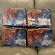 Pokemon 2016 Collectors Chest Lunch Box Shiny Gengar Volcanion Lot Of 4