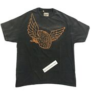 Gallery Dept. Flying Wings Print Washed Black T-shirt Size L