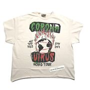 Gallery Dept. World Tour Wahsed White T-shirt Size L
