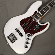 Fender American Ultra Jazz Bass Rosewood Arctic Pearl Electric Bass