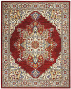 Nourison Majestic Red 9and0396 X 12and0398 Rectangle Area Rug 099446713506