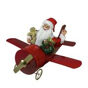Colossal 32 Santa Waving In Plane Taking Christmas Presents To Kids Cc