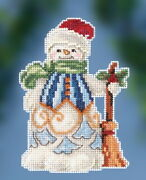 Jim Shore By Mill Hill Clean Sweep Snowman Js20-2013 Christmas Cross Stitch Kit