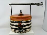 Longaberger 2013 Wicked Witch Basket Liner Protector Tie On