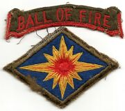 Theater Made 40th Infantry Division Us Army Patch Lot Ball Of Fire Tab Original
