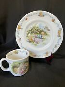 Royal Doulton Classic Winnie The Pooh Children's Porcelain Plate And Cup