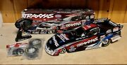 Traxxas Rc 1/8 Courtney Force Funny Car Nhra Dragster W/extra Wheels And Tires