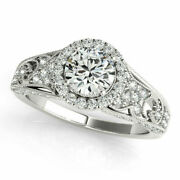 1.20 Ct Real Diamond Women Wedding Ring For Bridal Solid 950 Platinum Size 5 6