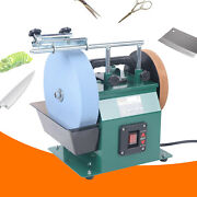 10in Sharpening Stone 8in Leather-stropping Wheel Water-cooled Grinder 220 Grit