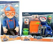My Buddy Blippi Deluxe Talking 16 Plush 15 Sounds Phrases And Recycling Truck