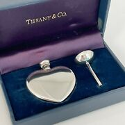 Vintage And Co. Sterling Silver Heart Perfume Flacon Bottle Funnel And Box