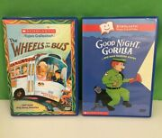 2 Scholastic Video Dvds Wheels On The Bus And Goodnight Gorilla