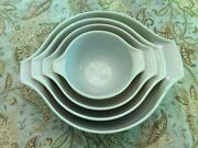 """Vintage Pyrex Nesting Bowl Set By Corning, U.s.a.,""""homestead,"""" Four Mixing Bowls"""