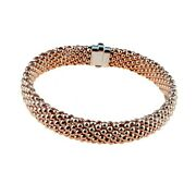 Bracelet In Rose Gold 18kt 750/1000 Jersey Three-dimensional Glossy Womenand039s