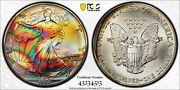 1990 Pcgs Ms69 Monster Toned Silver Eagle