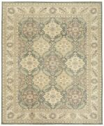 Hand Knotted Gray Ivory Wool Peshawar Area Oriental Rug Carpet 9 X 12