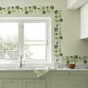 Ivy Wall Decals Vines Border Pvc Wall Stickers For Kitchen Living Room Decora...