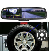 For Jeep Wrangler 2007-2018 Tire Mount Backup Camera 4.3 Lcd Mirror Monitor