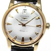 Longines 18k Yellow Gold Conquest Date Silver Dial Automatic Men's Watch_634715