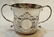 Early 18th Century George Ii Silver Caudle Cup By William Darker Of London