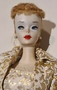 Mattel Barbie Doll 3 High Color Cheeks Brown Eye Liner Mint Condition 1958