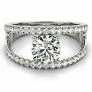 Natural 0.90 Ct Round Diamond Women Engagement Rings Solid 950 Platinum Size 8 7