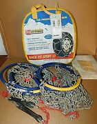 Les Schwab Quick Fit Sport Lt Tire Snow Chains, Stock 2318-s, Used