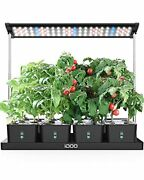 Idoo 20 Pods Indoor Herb Garden Hyrdroponics Growing System With Led Grow Lig...
