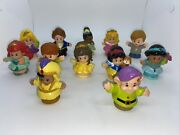 Fisher Price Little People Disney Princess Mixed Figures Lot Of 12
