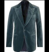 56r- Tom Ford Shelton Velvet Blazer Jacket-with Tags- Rrp4100 Aud